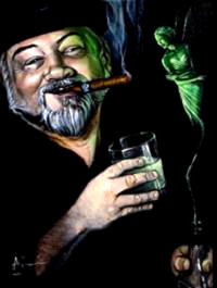 Home page artwork of Martin de Vore by Aimi Dunn.